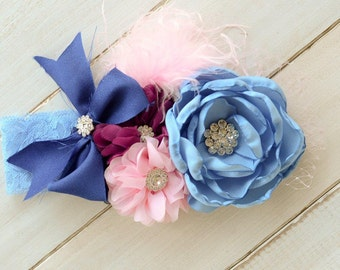 Flower Girl Headband, Little Girl Headband Made to Match Matilda Jane Clothing Line