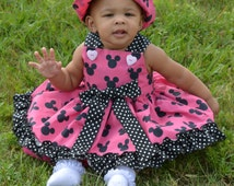 Minnie Mouse, Dress, Baby Disney Minnie Dress, Toddler Minnie Dress, szs 6m to 2T ,From  My Princess and Her Doll,  Minnie Mouse Dress