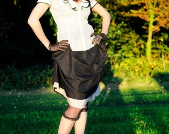 """Skirt """"Mary Reilly"""" - Black and beige"""