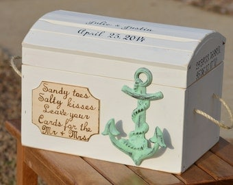 Wedding Gift Card Box Beach Theme : beach wedding card box nautical card box seashore wedding decor ...