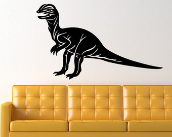 Dilophosaurus Dinosaur Prehistoric Animal Vinyl Wall Art Graphic Decal