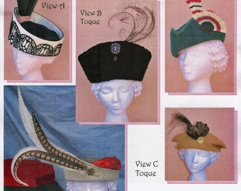 Late Edwardian-Early Teens Small Hat or Toque for Time Period 1909-1916   - Lynn McMasters Sewing Pattern