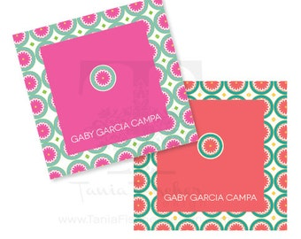 Flowers Squared Cards/Tarjetas Cuadradas Flores