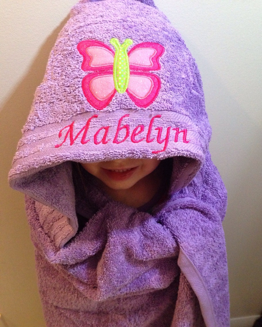Hooded Baby Towel Personalized Gift For Girl Or Boy