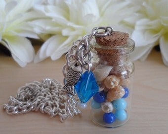 Sea Shell Bottle Necklace