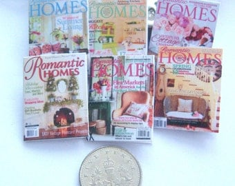 dollhouse magazines romantic homes 12th scale miniature  x 6 lakeland artist new