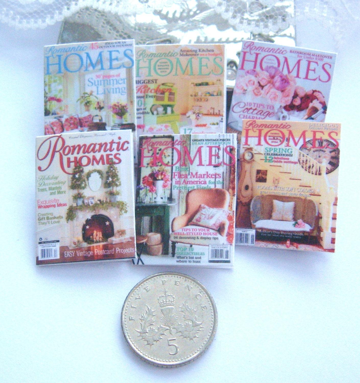 Dollhouse Magazines Romantic Homes 12th Scale Miniature X 6