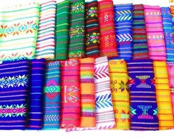 Aztec fabric, Mexican Fabric Bundle, Mexican fabric by the yard,colorful tribal fabric by the yard. latin american, houseware, embroidered