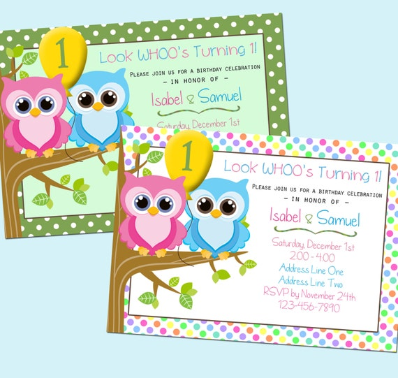First Birthday Invitations For Twins is perfect invitation template