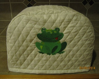 Toaster Cover 2 or 4 Slice, CUTE FROG DESIGN, Choose Black, Red or Cream Color