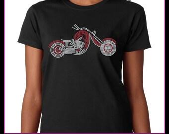 Motorcycle / Chopper Rhinestone t-shirt