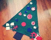 ON SALE**Felt Christmas Tree for toddlers to decorate!  Made to order; 20 pieces.
