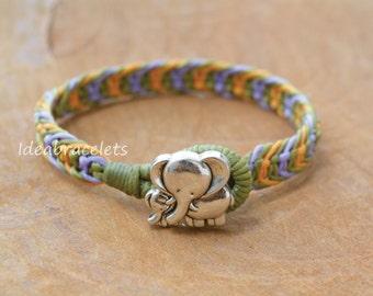 Elephant Bracelet, Elephant Jewelry, Multicolors Bracelets, Friendship bracelets, Colorful bracelets, Gift for Friends, Baby Jewelry - Green