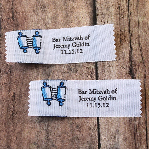20 Clothing Labels Woven Fabric Labels With Torah Scroll