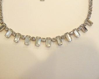 Gorgeous Vintage Glittering Kramer Rhinestone Necklace