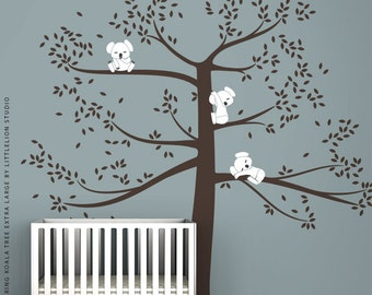 Spring Koala Tree Extra Large Wall Decal by LittleLion Studio