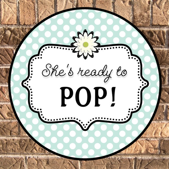 Ready to pop design my own baby shower invitations party for Ready to pop stickers template