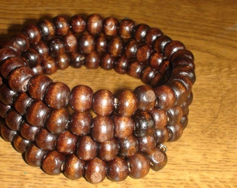 Wrap bracelet .Wooden beaded bracelet.