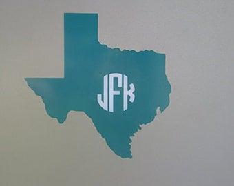 Texas Monogram Laptop Sticker
