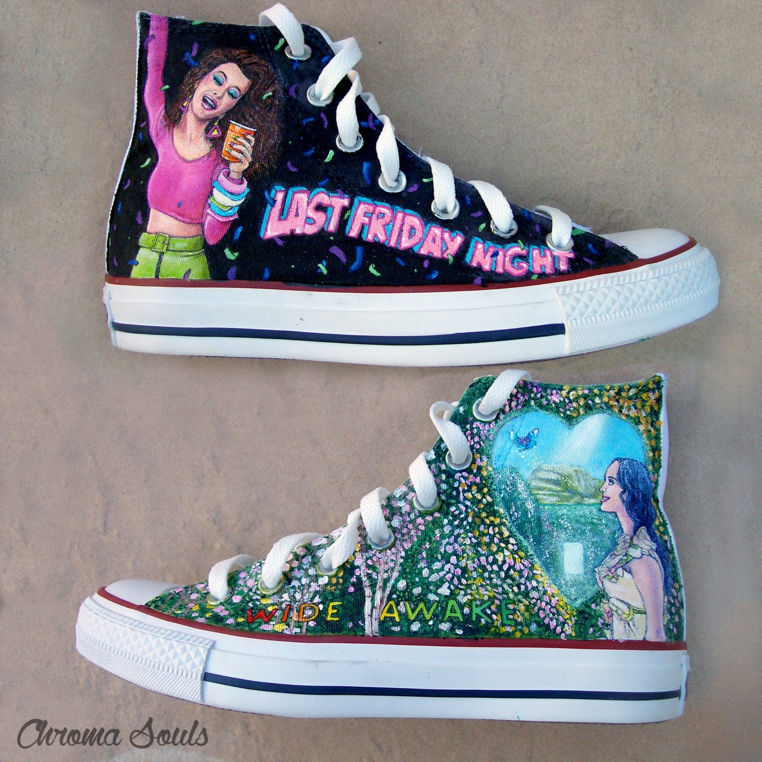 Katy Perry Shoes by ChromaSouls on Etsy Katy Perry Shoes