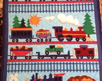 Train Quilt  FREE Personalization!!