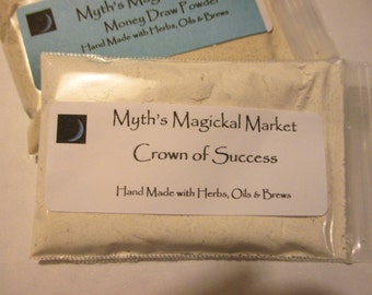 Crown of Success Powder, Hoodoo, Metaphysical, Magick, Voodoo, Pagan, Alchemy Cleanse, Conjure, Roots, Herbs, Spiritual Blend, Wiccan