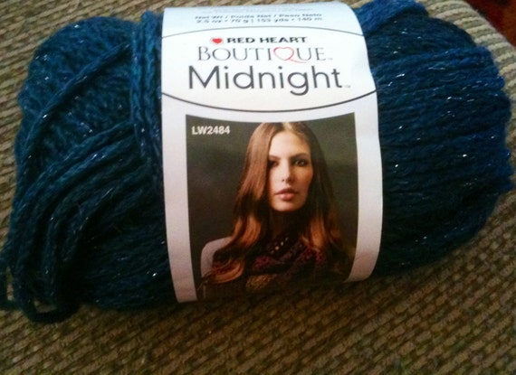 Knitting Patterns For Red Heart Boutique Midnight : Red Heart Boutique Midnight Yarn Moonlight Yarn Blue Yarn