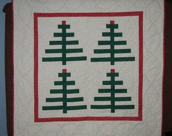 Christmas Tree Quartet Wall Hanging