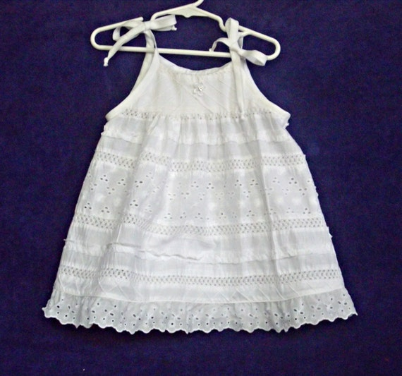 White Eyelet Toddler Summer Ruffle Lace Dress Size by