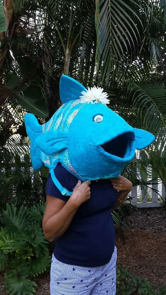 Fish head costume for halloween or a parade for Fish head costume