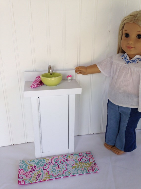 Bathroom Sink And Cabinet Fits American Girl Doll Battat Maplelea
