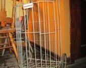vintage collapsible metal shopping cart
