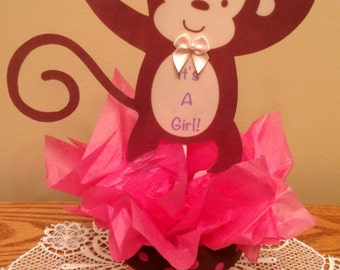 4 Jungle Monkey Flower Pot, Baby Shower Decorations, table top center pieces.