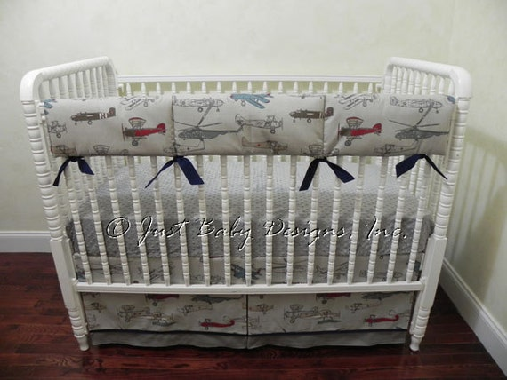 vintage custom baby boy crib bedding 3