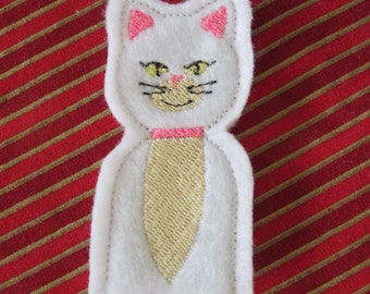 Embroidered KITTEN Finger Puppet