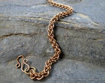 Brass Chain Bracelet ~ JPL Chain Maille Weave