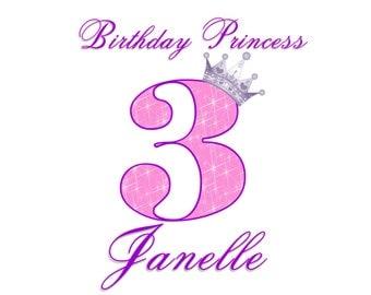 Birthday Princess Shirt - Pink and Purple