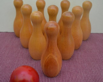 In Stock: Wooden Skittles--Bowling Set