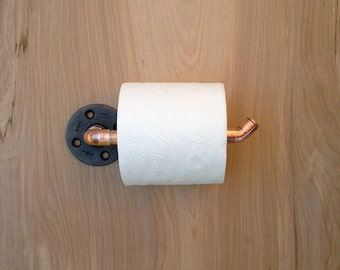 Industrial Copper Pipe Toilet Paper Holder Modern Chic