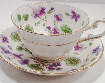 Gorgeous Tuscan Fine Bone China Made in England tea cup and saucer.