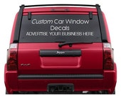Custom Car Window Decals, Logos, Advertise Your Business, Personalized Car Window Vinyl Lettering Stickers