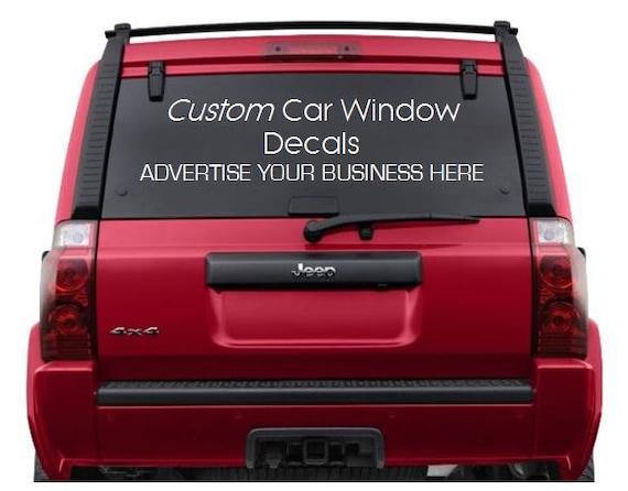 Decals Custom Logo Custom Car Window Decals