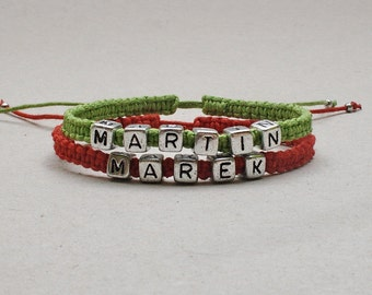 Custom Personalized bracelet - macrame bracelet - custom bracelet, name bracalet, personalized name bracelet