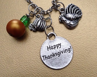 Thanksgiving charm necklace