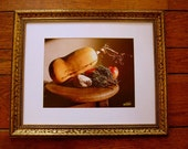 Cape Cod Still Life Matted in White in Up Cycled Gold  Frame 21x17 - Fall Harvest- Kitchen Art- Dining Room Art-Housewarming Gift - MuttiArtography