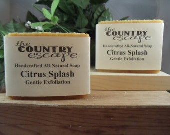 Citrus Splash Bath Soap -Gentle Moisturizing - Great Lather - Handcrafted - Organic - Vegan - Natural Soap - Paraben Free