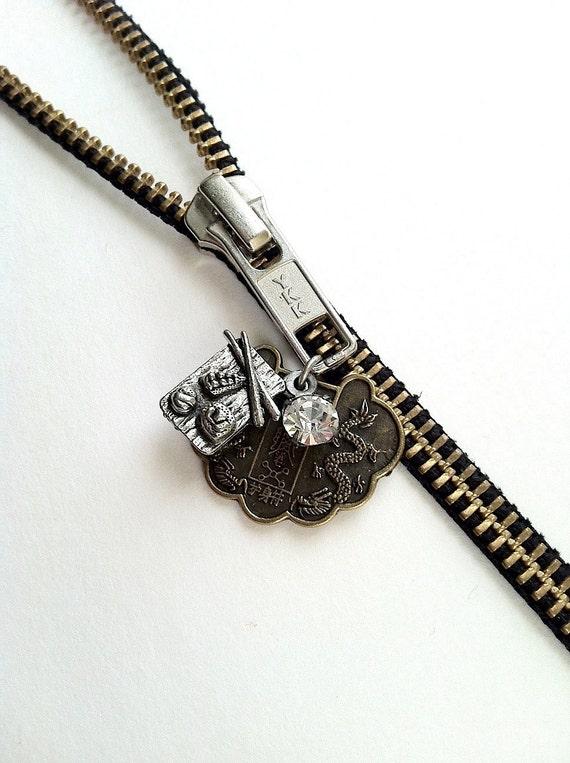 Sushi Zipper Necklace