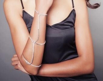 Bohemian 20s style bridal bracelet- arm chain