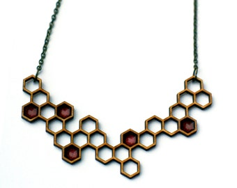 double honey necklace - red