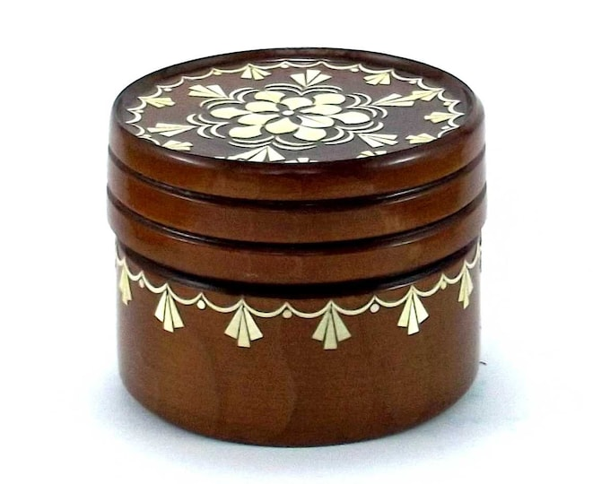 Jewelry box inlay Handmade box Jewelry storage box Jewelry box handmade Wood storage box Wood jewelry box Wood trinket box Small trinket #2